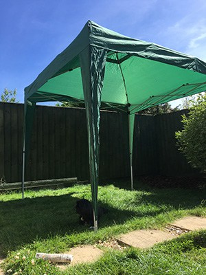 Use a marquee to create shade in your garden