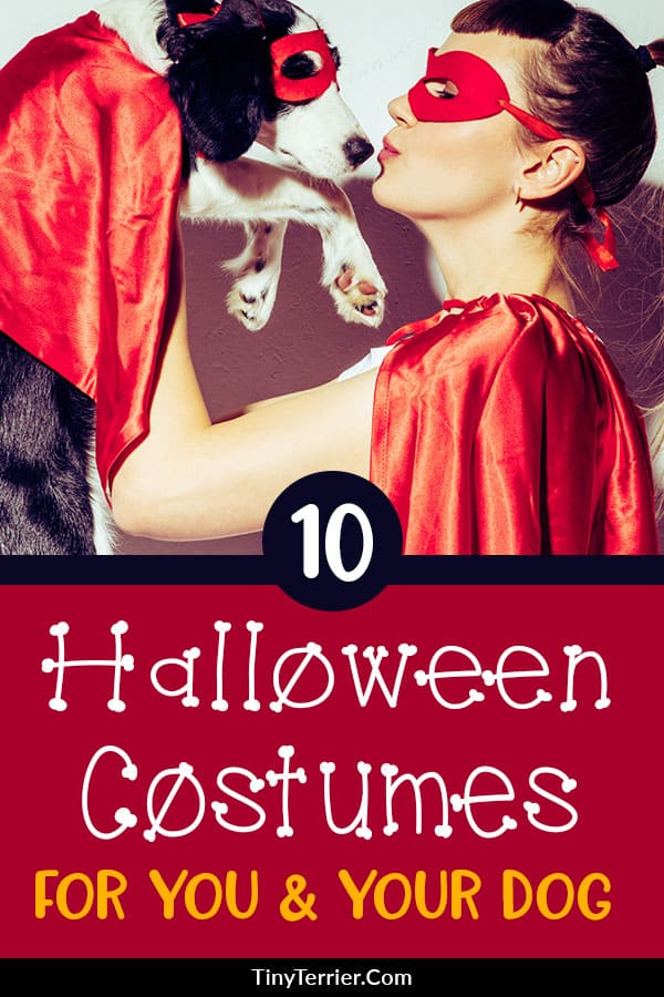 11 Ingenious Dog & Owner Halloween Costume Ideas. Do you love to match your costume with your dog at Halloween? Here are ten clever dog & owner Halloween costume ideas to make your family stand out this Holiday season. #halloween #halloweendogs #halloweencostumes